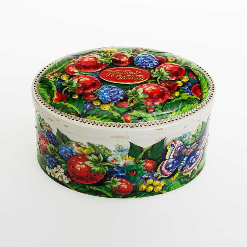 Fancy Oval Shape Candy Tin  DR0504A-01  146x107x85